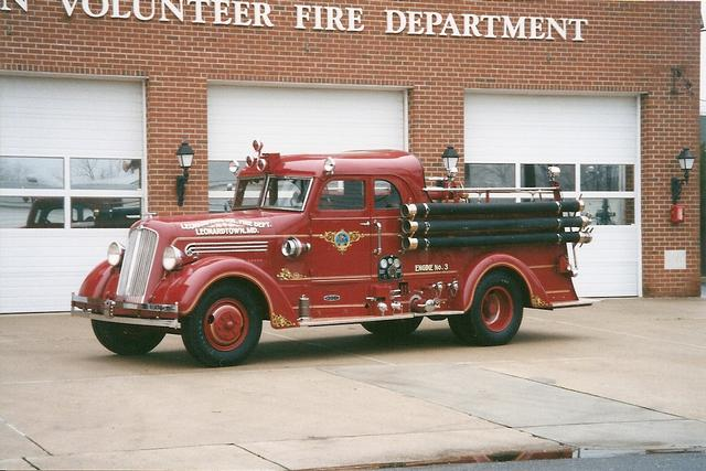Engine 13 1937 Seagrave Pumper First Closed Cab Custom In Maryland 750 Gpm Pump With Four 1½ Inch Discharges Was Completely