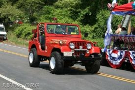 Jeep 1 in the parade.