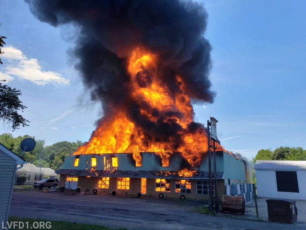 Fire throughout the structure.